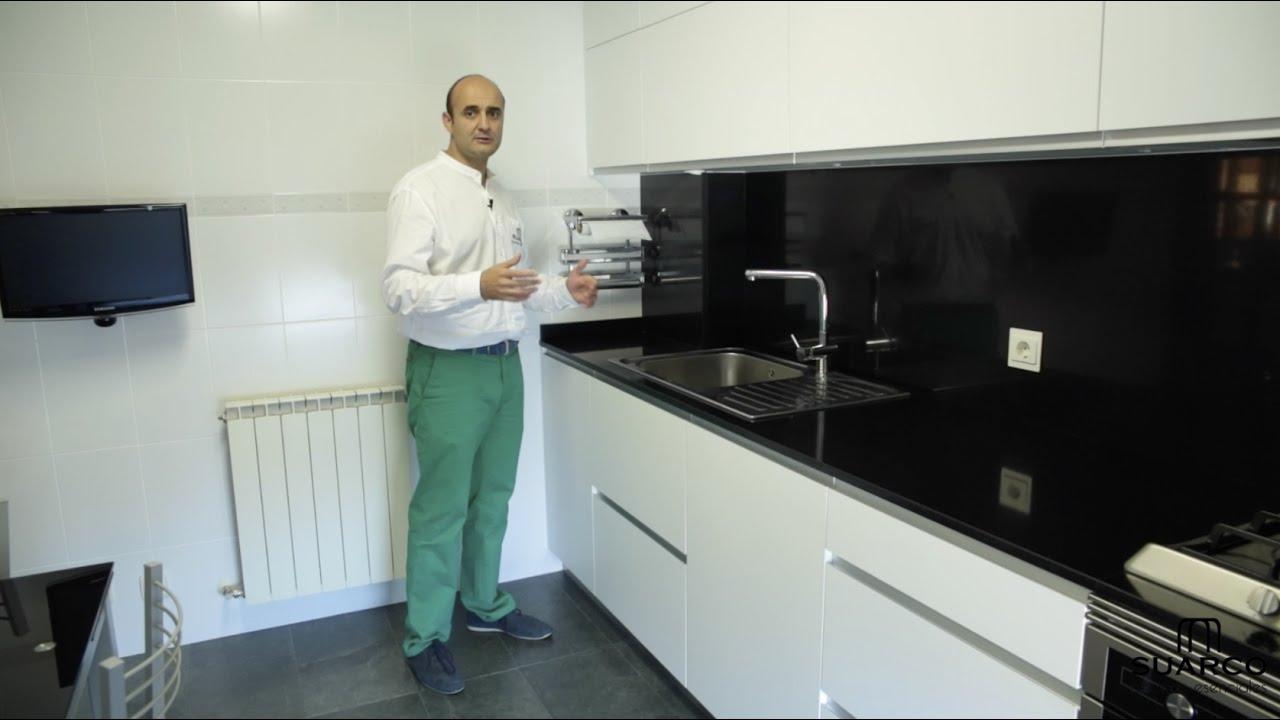 Video de cocinas blancas modernas pequeas en acabado