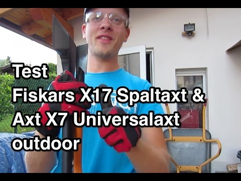 test fiskars x17 spaltaxt test fiskars x7 universalaxt. Black Bedroom Furniture Sets. Home Design Ideas