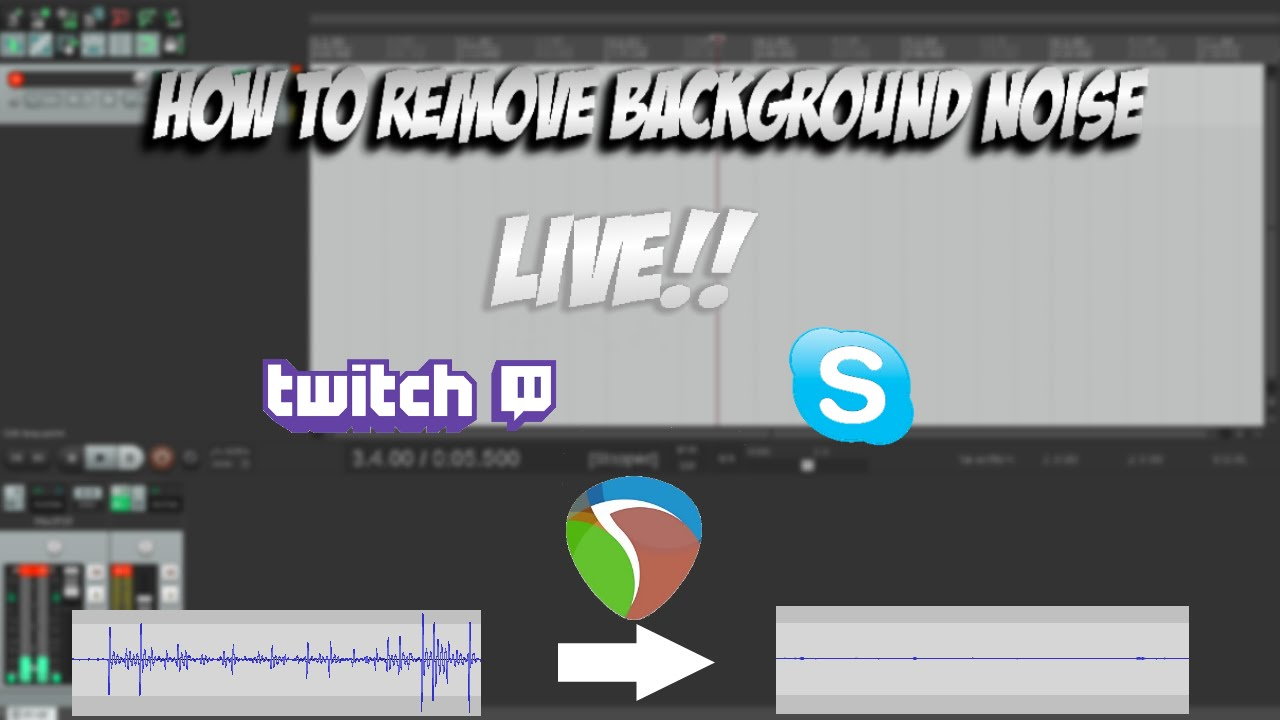 How to Remove Background Noise From Your Microphone | Live Removal