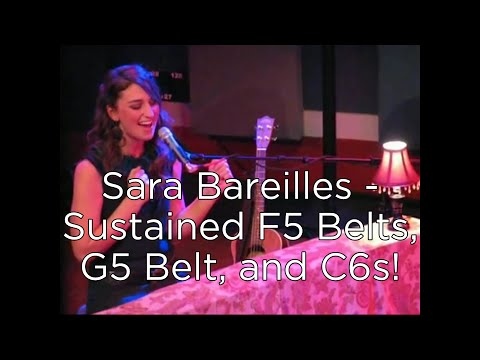 Sara Bareilles - Sustained F5 Belts, G5 Belt, and C6s! (Come Round Soon)