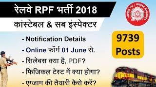 Railway RPF Constable & SI Vacancy 2018 || रेलवे 8619 सिपाही, 1120 दरोगा भर्ती ब्योरा