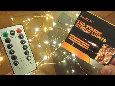 100 LED Fairy Lights with Remote Control by Innotree