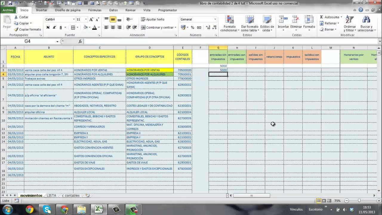 Famoso Plantilla De Hoja De Cálculo Contable Excel Cresta - Ejemplo ...