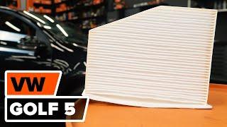 Como e quando mudar Filtro de ar do habitáculo VW GOLF V (1K1): vídeo tutorial