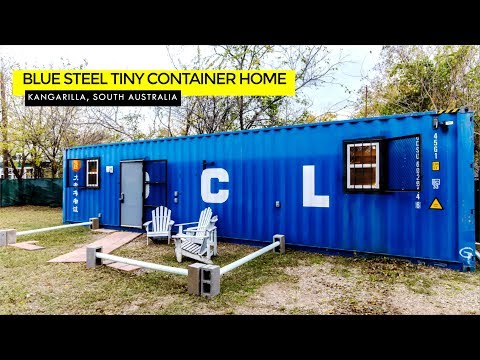 Blue Steel Tiny Container Home- The Cedars Dallas Texas, USA