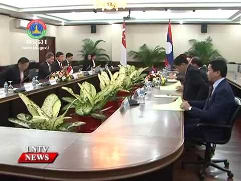Lao NEWS on LNTV: Laos and Singapore are pledging to work together.28/7/2016