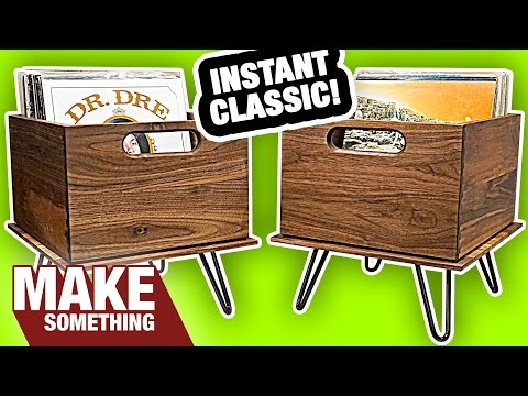 Let's Make Some Classic Style Wood Record Crates | Woodworking Project