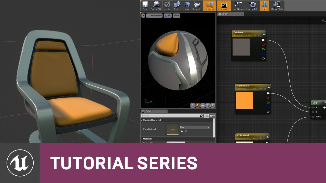 Intro to Materials: Dynamic Material Instances | 09 | v4 0 Tutorial Series  | Unreal Engine