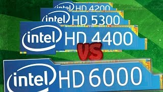 iNTEL HD 6000 vs INTEL HD 4400, 5300, 4200 Gaming NEXT GPU of Surface Pro 4 and MacBook Air 2015
