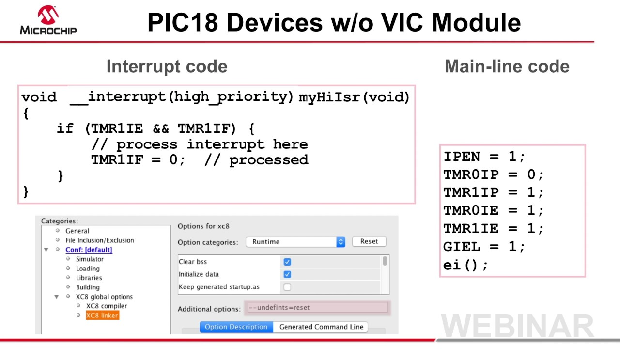 New Interrupt Syntax in MPLAB® XC8 Webinar
