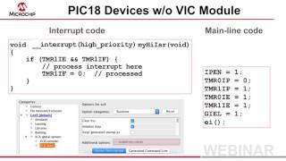 New Interrupt Syntax in MPLAB® XC8 Webinar