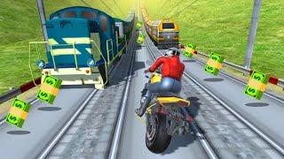 Subway Rider - Train Rush ( By Timuz Games ) - Gameplay - Games For Kids - Bike Game - Bike stunt 🤗