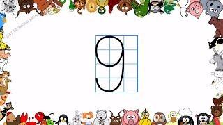 Bé học chữ | Em tập viết chữ số lớp 1 và tập đọc số tiếng Việt | Viết số 0,1,2,3,4,5,6,7,8,9