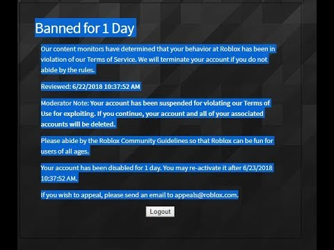 Banned For Glitching On Roblox Youtube
