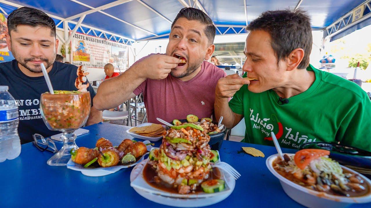 Mexican Street Food SEAFOOD TOWER!! 🦐 Breakfast Tacos + Steak in Tucson, Arizona!!