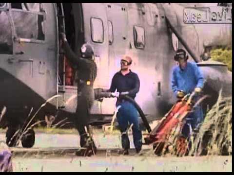 Refueling - French Navy chopper - Super Frelon