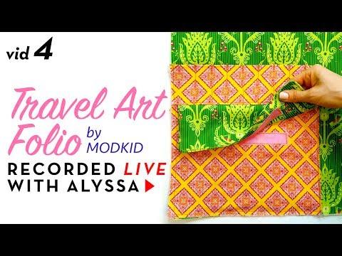 Sewing inside pockets - Video 4 Travel Art Folio by Modkid - Designer Series #RelaxAndCraft