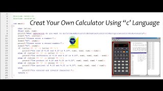C Programmeren Tutorial Maken van de Calculator in de Taal C | Met de Bron Bestand