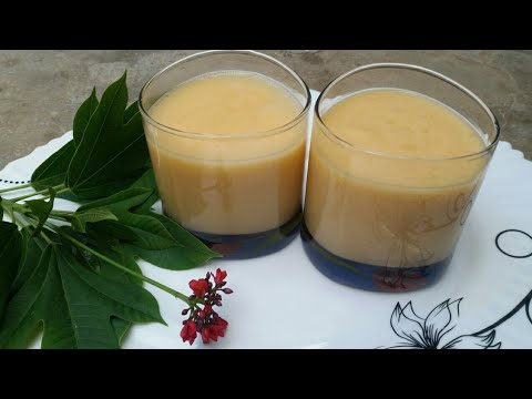 Super Healthy Papaya Banana Smoothie To Improve Your Digestive System by cooking with Fakhira Sajjad