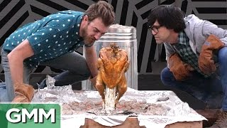 Cooking A Turkey In A Trash Can