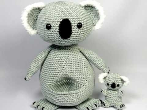 Koala Mother And Baby Amigurumi Crochet Pattern Youtube