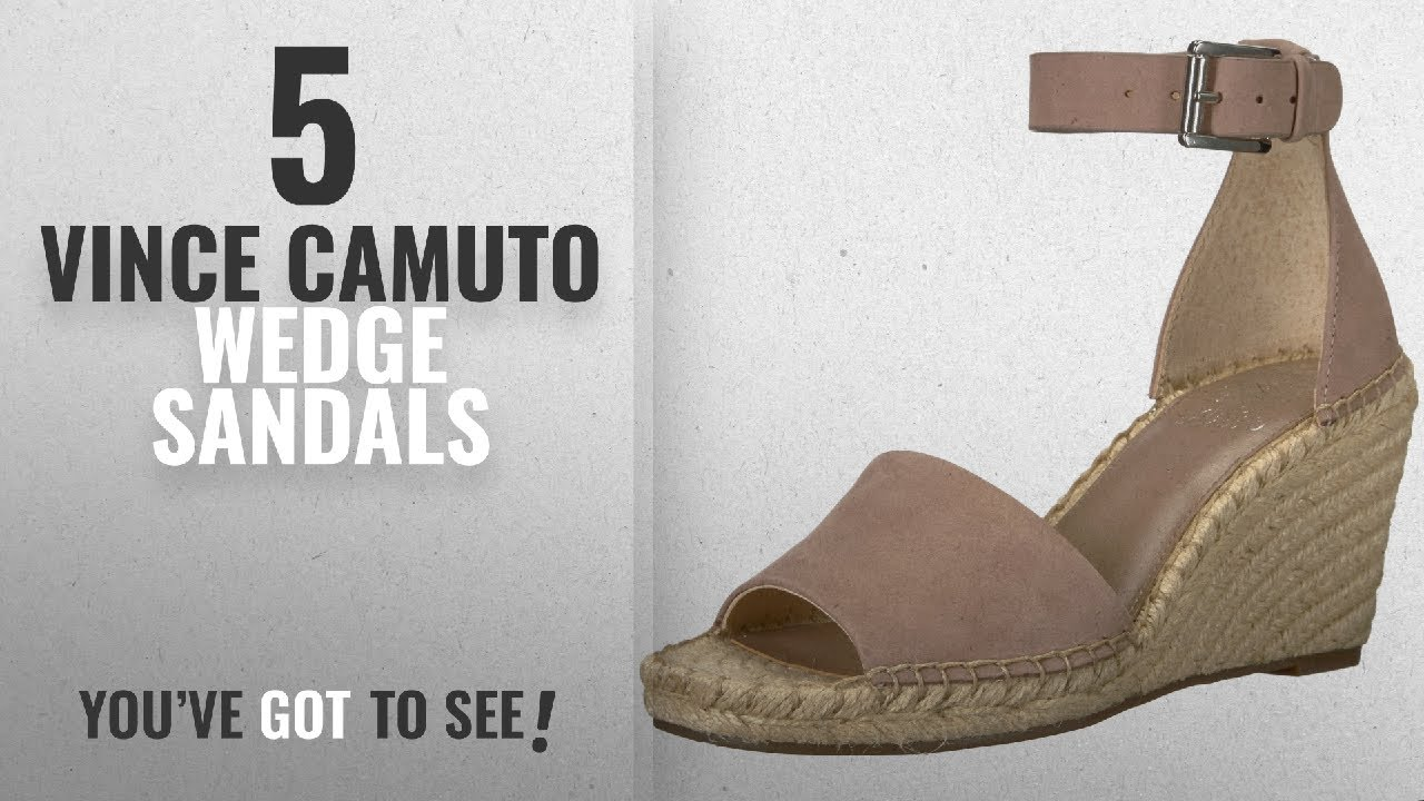 4fc2704908e Top 5 Vince Camuto Wedge Sandals [2018]: Vince Camuto Women's Leera  Espadrille Wedge Sandal, Dusty