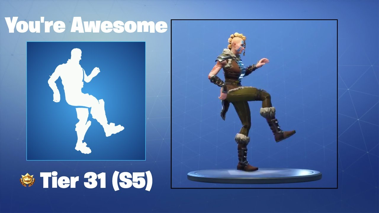 You Re Awesome Fortnite Emote Youtube - you re awesome fortnite emote