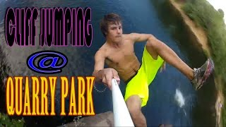 Cliff Jumping at Quarry Park in St. Cloud