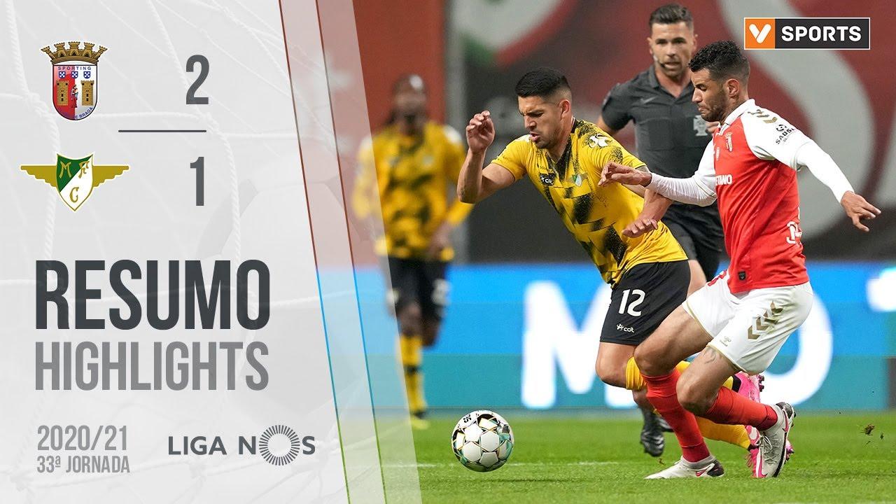 Highlights | Resumo: SC Braga 2-1 Moreirense (Liga 20/21 #33)