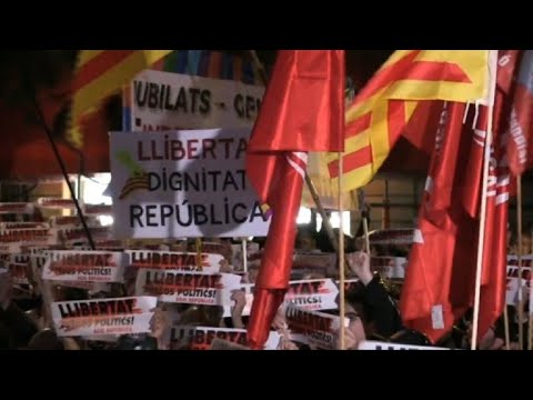 Spain: Pro-independence demonstration in Barcelona
