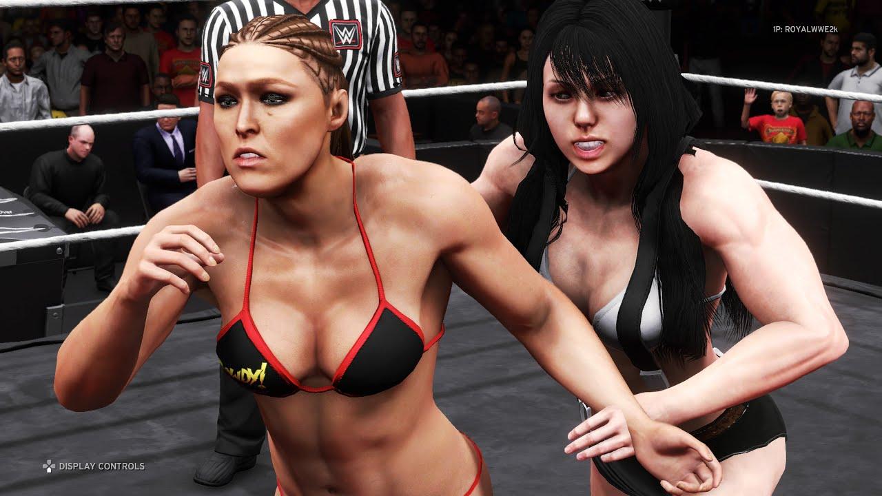 WWE 2K20 - Ronda Rousey vs. Tifa Lockhart - Bikini Girl Fights 💖