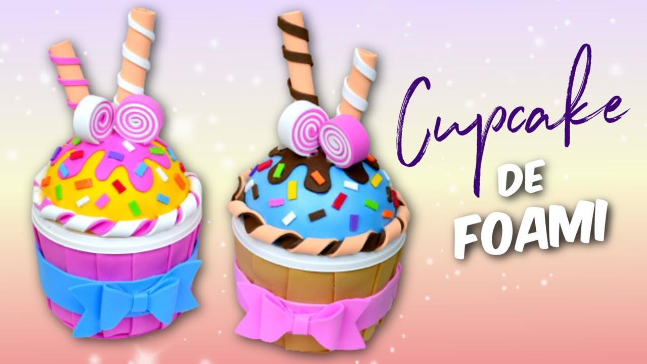 Moldes Para Lazos En Foami: Cupcake En Foami (Cajita) │Espacio Creativo