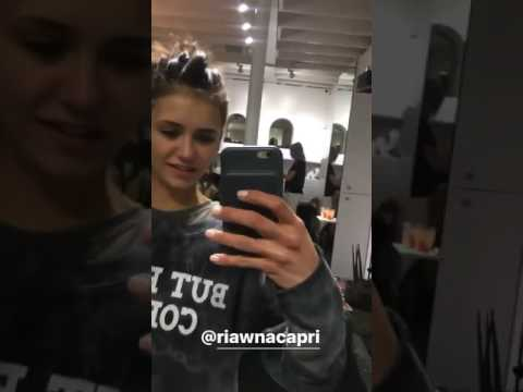 Nina Dobrev Showing Your Hair Being Careful By Riawna Capri