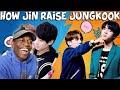 How Jin Raise Jungkook   REACTION