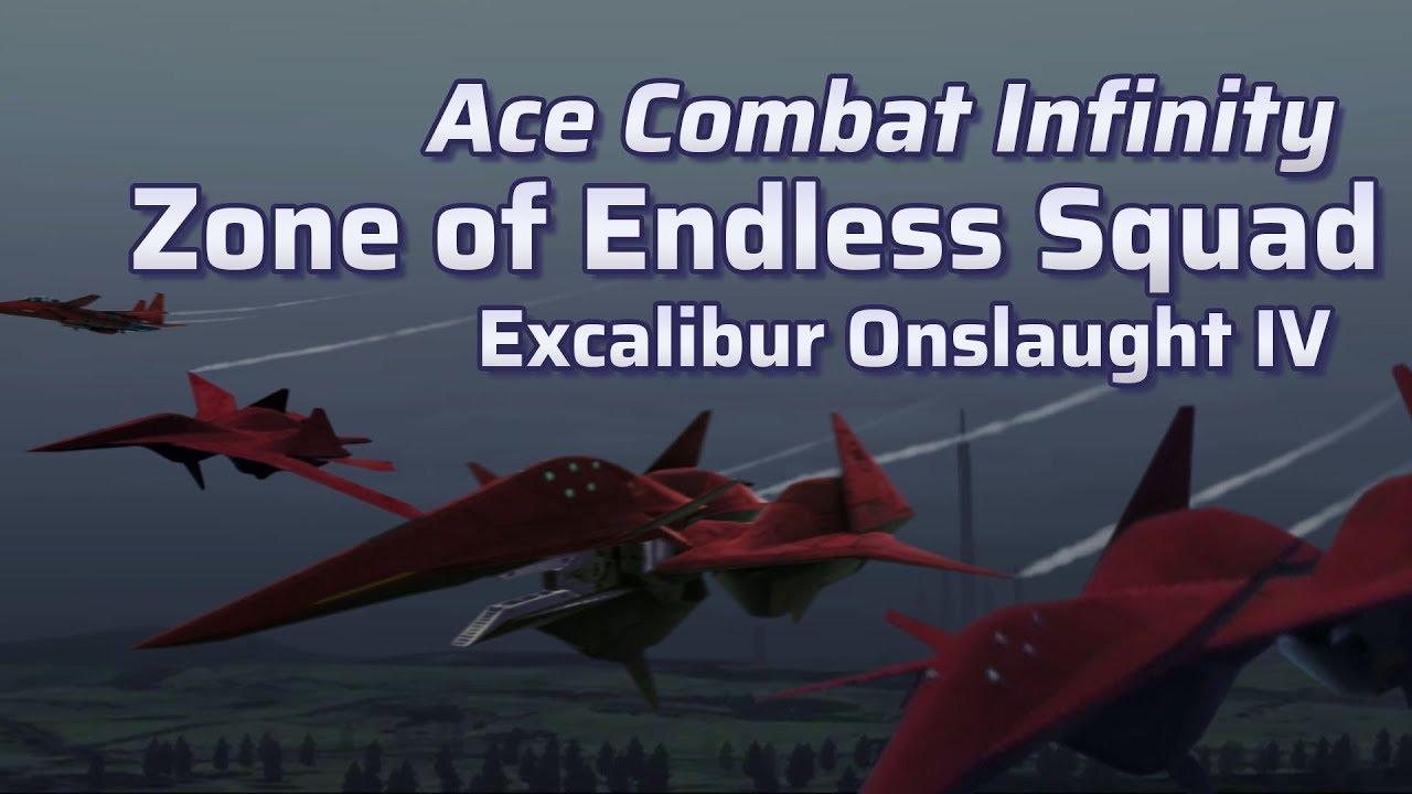 Ace Combat Infinity Zoe Squad Vs Excalibur Iv Youtube