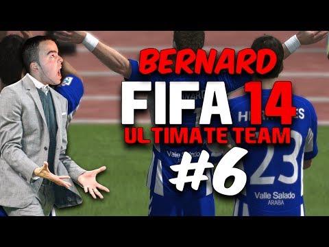 FIFA 14 ULTIMATE TEAM #6 l QUE GOLO DO BERNARD  l PS4 GAMEPLAY 1080