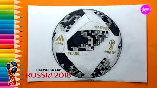 Cómo dibujar EL BALÓN OFICIAL RUSIA 2018 - How to draw the official ball of Russia 2018 - Yaye