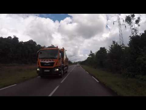 Guyane française Route vers Saint Laurent du Maroni, Gopro / French Guiana Road  to Saint Laurent
