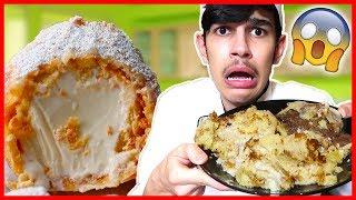 ايس كريم المقلي بالزيت ؟😱🔥 وصفات الانستقرام!!! | deep fried ICE CREAM 😶 | #الشيف_كاج👨🏻🍳