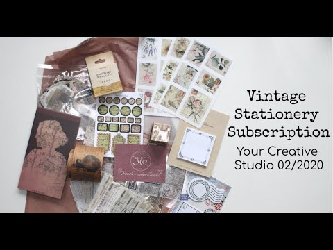 Vintage Stationery Subscription Unboxing: Your Creative Studio