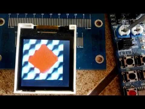 Samsung GT-E1050 LCD demo