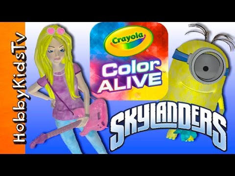 crayola color alive hobbysis coloring books skylanders barbie hobbykidstv youtube - Color Alive Coloring Book