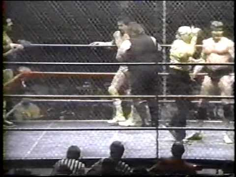 Blackwell and Kassey vs Gagne and Brunzell (cage match)
