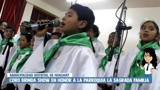 INFANTES Y ADULTOS QUE INTEGRAN CORO MUNICIPAL DE HUALMAY BRINDAN EMOTIVO CONCIERTO