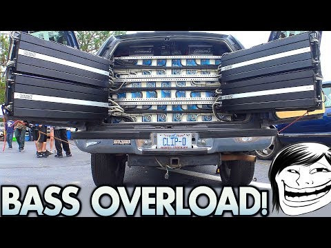 Too MUCH BASS for a TAHOE!?!? Playing Kyle's BIGGEST Car Audio Subwoofer Sound System Ever!