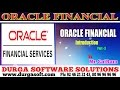 Oracle Finacial  online training   Oracial Financial Introduction part - 3 by SaiRam