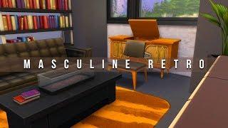 Masculine Retro Living Room // Sims 4 Speed Build