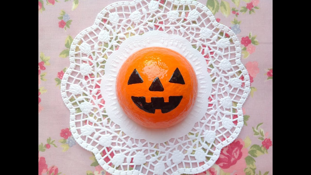Squishy Bun Diy : Squishy Tutorial: Creepy Halloween Pumpkin Bun ? - YouTube