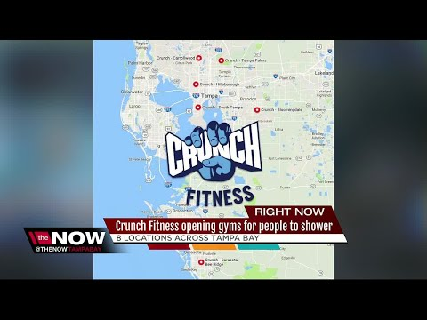 Crunch Fitness opening gyms for people to shower