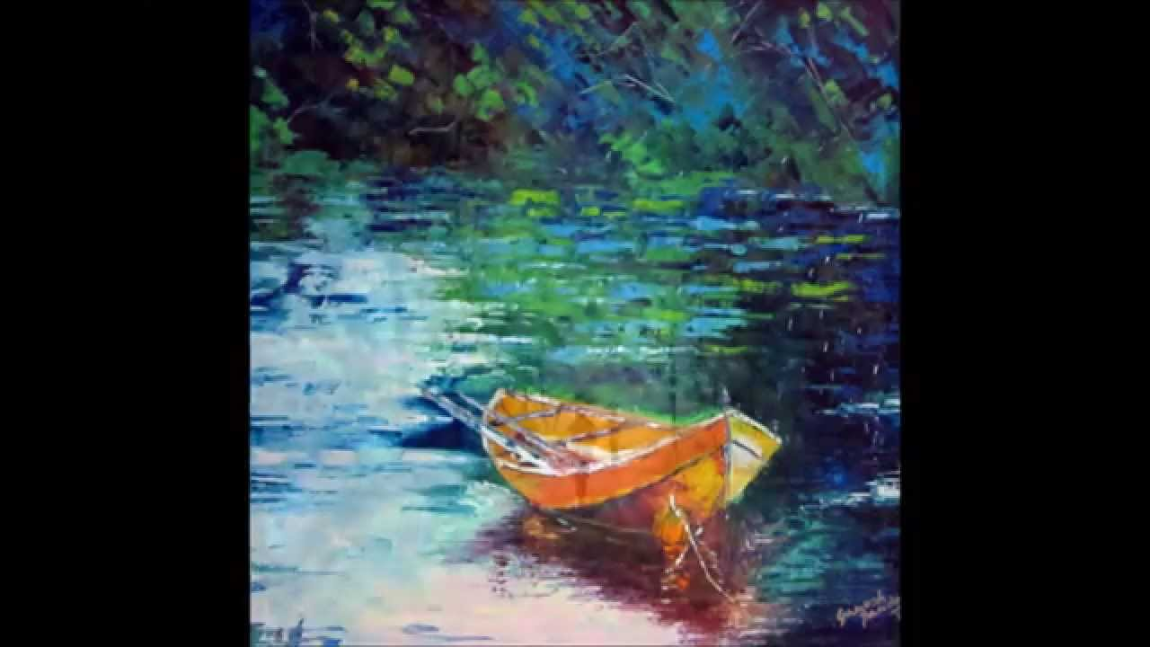 Latest Palette Knife Landscape Paintings By Ganesh Panda